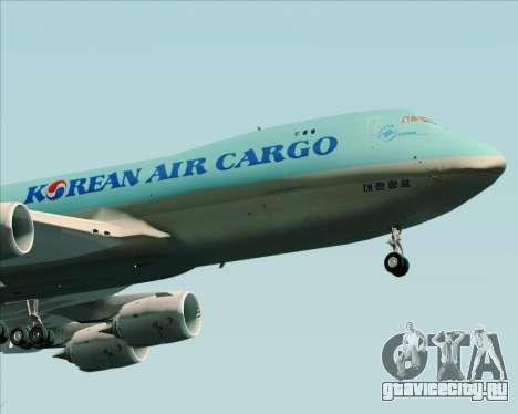 Boeing 747-8 Cargo Korean Air Cargo для GTA San Andreas вид сзади