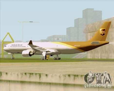 Airbus A330-300P2F UPS Airlines для GTA San Andreas вид сбоку