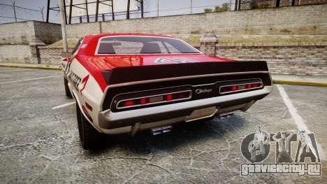 Dodge Challenger 1971 v2.2 PJ7 для GTA 4 вид сзади слева