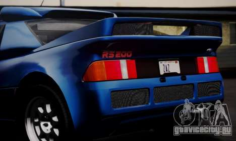 Ford RS200 Evolution 1985 для GTA San Andreas вид снизу