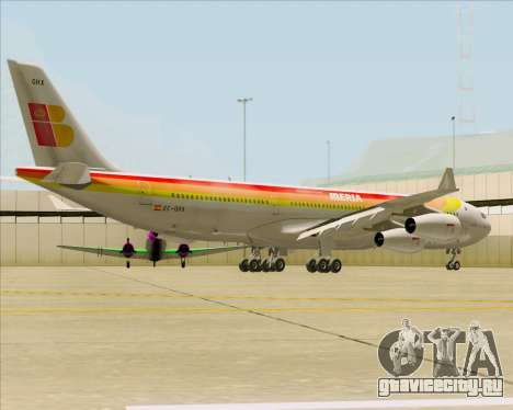 Airbus A340 -313 Iberia для GTA San Andreas вид справа