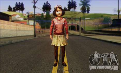 Klementine from Walking Dead для GTA San Andreas
