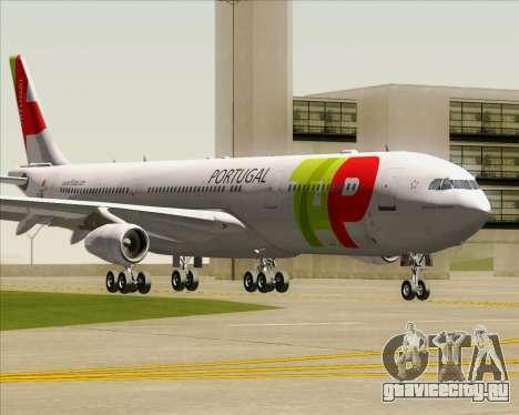 Airbus A340-312 TAP Portugal для GTA San Andreas вид слева