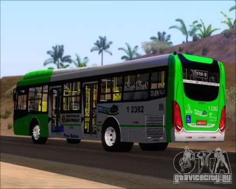 Caio Induscar Millennium BRT Viacao Gato Preto для GTA San Andreas вид сзади слева