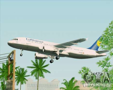 Airbus A320-211 Lufthansa для GTA San Andreas вид изнутри