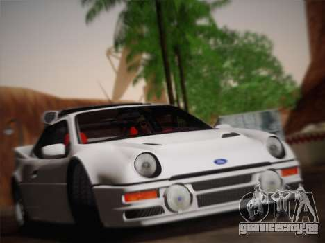 Ford RS200 Evolution 1985 для GTA San Andreas вид сзади