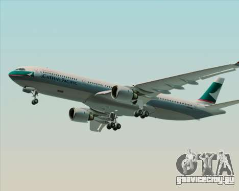 Airbus A330-300 Cathay Pacific для GTA San Andreas вид сзади слева