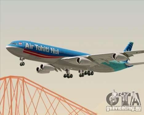 Airbus A340-313 Air Tahiti Nui для GTA San Andreas вид сбоку