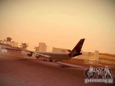 Airbus A340-600 Qatar Airways для GTA San Andreas вид справа