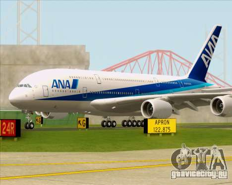 Airbus A380-800 All Nippon Airways (ANA) для GTA San Andreas вид сзади