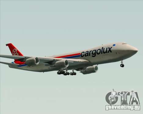 Boeing 747-8 Cargo Cargolux для GTA San Andreas вид сверху