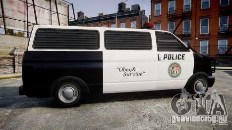 Declasse Burrito Police для GTA 4 вид слева