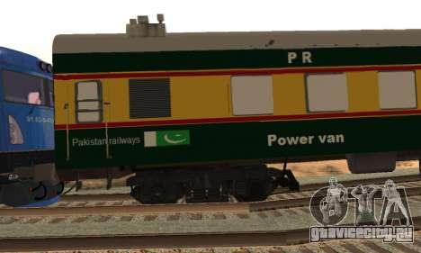 Pakistan Railways Train для GTA San Andreas вид сзади