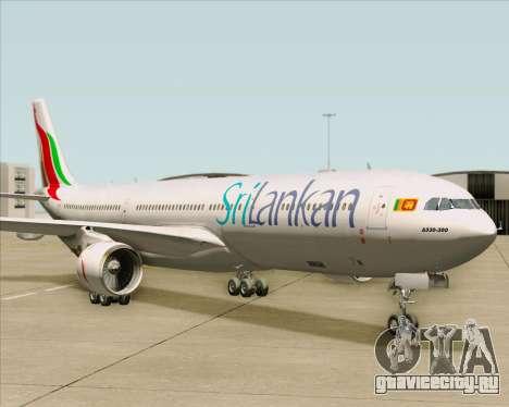 Airbus A330-300 SriLankan Airlines для GTA San Andreas вид слева