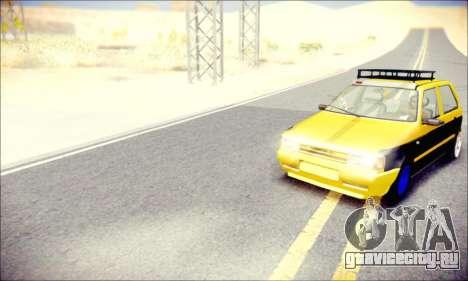 Fiat Uno для GTA San Andreas вид справа