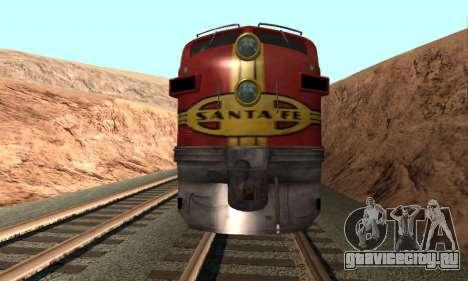 Santa Fe Superchief F7A для GTA San Andreas вид справа