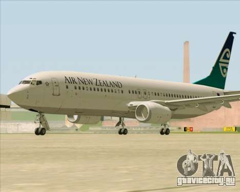 Boeing 737-800 Air New Zealand для GTA San Andreas вид сзади