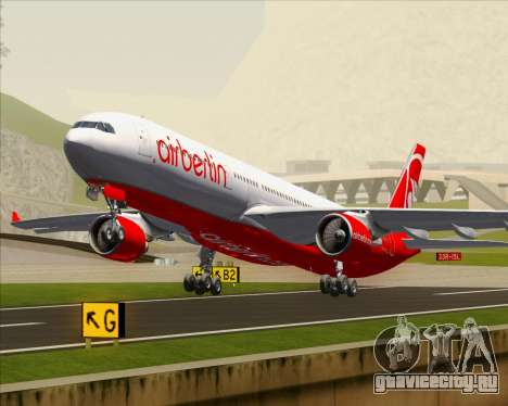 Airbus A330-300 Air Berlin для GTA San Andreas салон