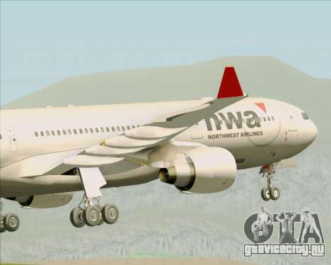 Airbus A330-300 Northwest Airlines для GTA San Andreas вид снизу