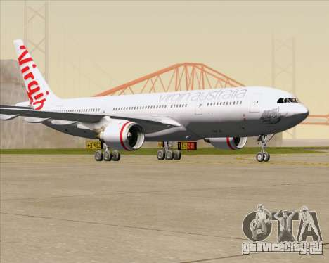 Airbus A330-200 Virgin Australia для GTA San Andreas вид слева