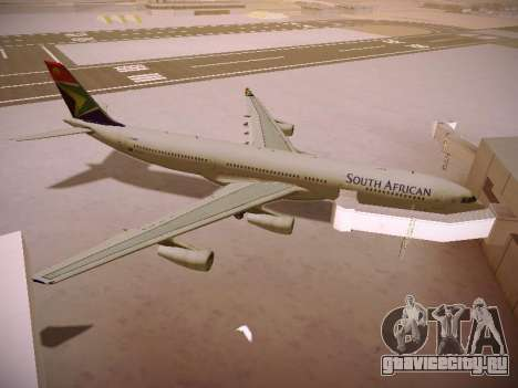 Airbus A340-300 South African Airways для GTA San Andreas вид снизу