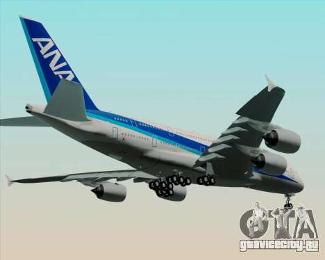 Airbus A380-800 All Nippon Airways (ANA) для GTA San Andreas вид изнутри