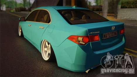 Honda Accord 2010 Hellaflush для GTA San Andreas вид слева
