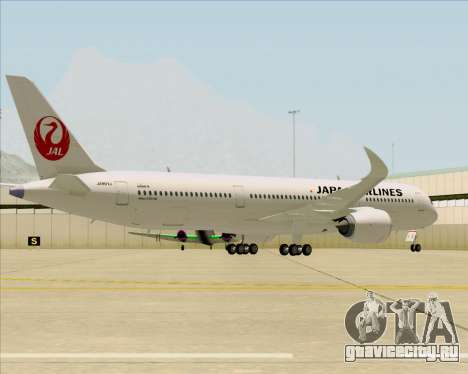 Airbus A350-941 Japan Airlines для GTA San Andreas вид сзади
