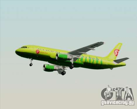 Airbus A320-214 S7-Siberia Airlines для GTA San Andreas вид сверху