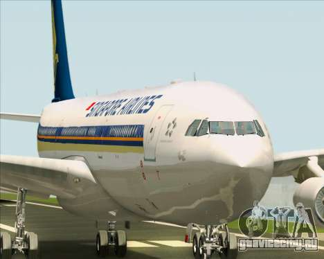 Airbus A340-313 Singapore Airlines для GTA San Andreas двигатель