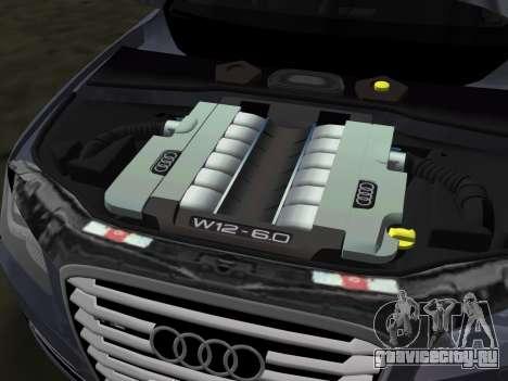 Audi A8 2010 W12 Rim6 для GTA Vice City вид сверху