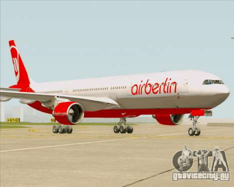 Airbus A330-300 Air Berlin для GTA San Andreas вид сзади слева