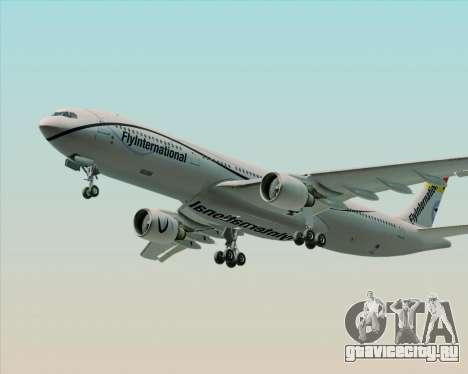 Airbus A330-300 Fly International для GTA San Andreas вид снизу