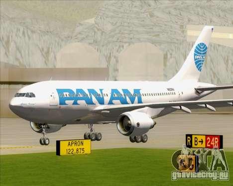Airbus A310-324 Pan American World Airways для GTA San Andreas вид слева