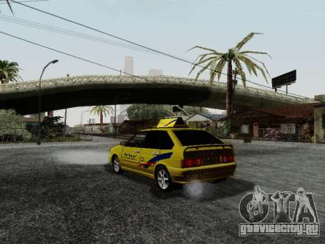 ВАЗ 2114 ТМК Форсаж для GTA San Andreas вид сзади слева