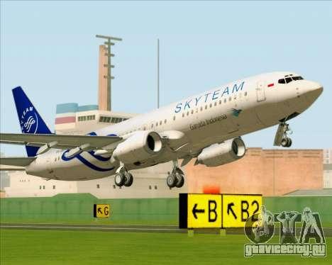 Boeing 737-86N Garuda Indonesia для GTA San Andreas вид сзади