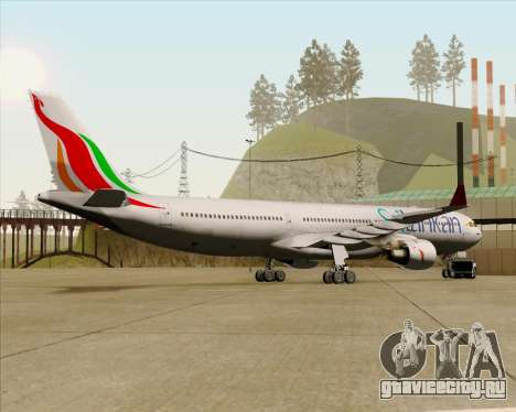 Airbus A330-300 SriLankan Airlines для GTA San Andreas вид сзади