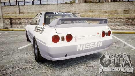 Nissan Skyline GTR R32 для GTA 4 вид сзади слева