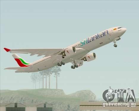 Airbus A330-300 SriLankan Airlines для GTA San Andreas вид снизу