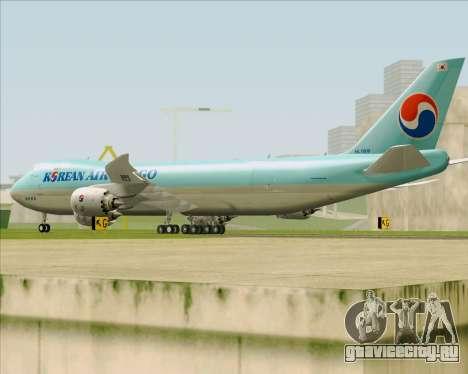 Boeing 747-8 Cargo Korean Air Cargo для GTA San Andreas вид справа