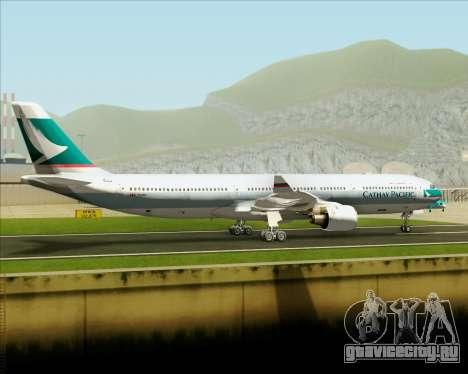 Airbus A330-300 Cathay Pacific для GTA San Andreas вид изнутри
