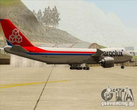 Boeing 747-8 Cargo Cargolux для GTA San Andreas вид справа