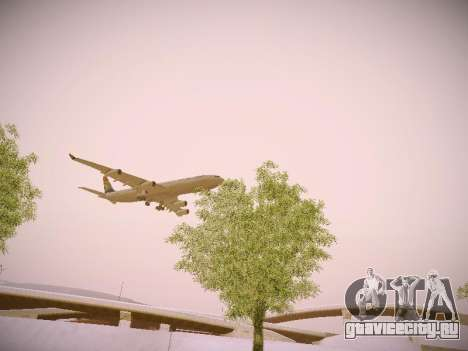 Airbus A340-300 South African Airways для GTA San Andreas вид сбоку