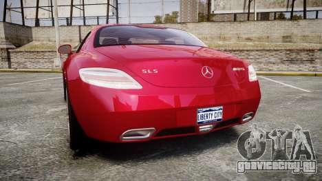 Mercedes-Benz SLS AMG [EPM] для GTA 4 вид сзади слева