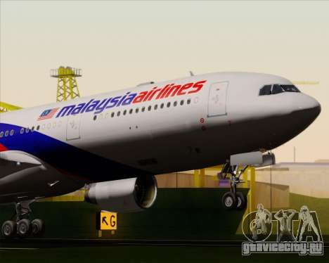 Airbus A330-323 Malaysia Airlines для GTA San Andreas вид сбоку