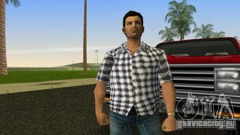 Kockas polo - feher T-Shirt для GTA Vice City второй скриншот