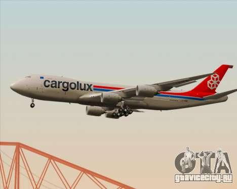 Boeing 747-8 Cargo Cargolux для GTA San Andreas вид сзади
