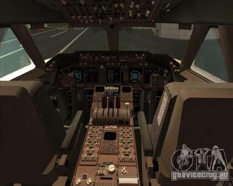 Boeing 747-830 Lufthansa - Fanhansa для GTA San Andreas салон