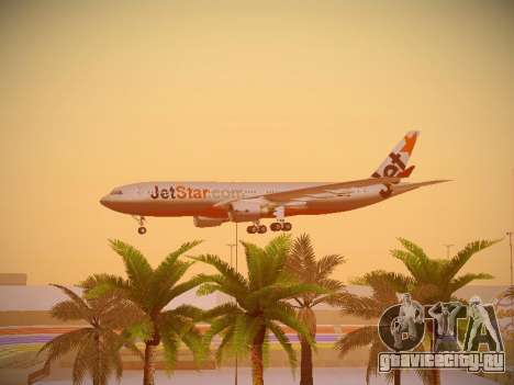 Airbus A330-200 Jetstar Airways для GTA San Andreas вид снизу