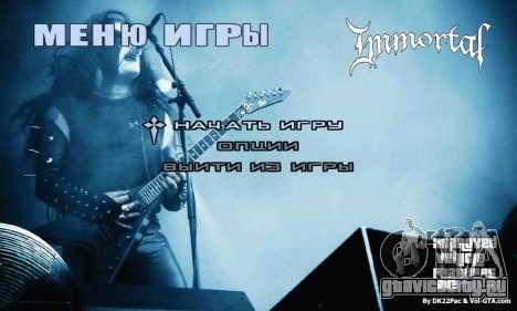 Metal Menu - Immortal (Live) для GTA San Andreas
